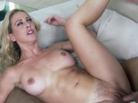 Blue eyed blonde Cherie Deville fucked and facialized