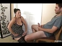 Dressing room fantasy with a horny stud and his step mom