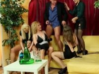 Upper class piss loving babes from Europe having an orgy