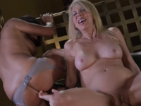 Two horny babes in threesome fuck
