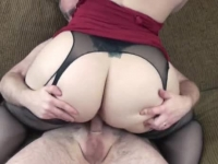 Chubby housewife enjoying hard dong