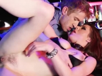 Jedi redhead fucked and face jizzed in the bar