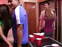 College wild group sex loving at the Party