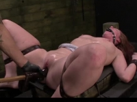 Bound and punished by her man