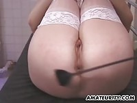 Housewife whipped and punished