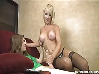 Superb young MILF giving an impressive tugjob