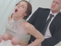 Heavenly secretary Antonia Sainz fucked at the office