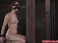 Sexy redhead toyed and flogged in the dungeon