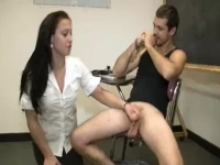 Nasty teacher wanks in classroom