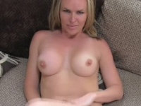 Casting blondie takes a massive facial after getting fucked