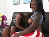 Two busty pierced ebonies ger pumped