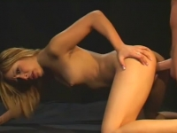 Blonde asian nailed in the ass