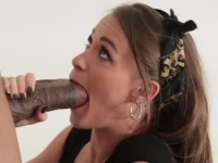 Perfect teen Kacy Lane using a big black cock to satisfy her
