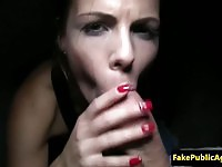 Cute European paid to fuck