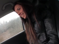 Beautiful Czech teen banged in the car by a stranger