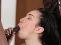 Teen beauty dreams of large black cock