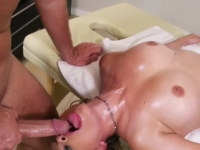 Gorgeous MILF fucked by her masseur