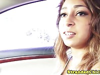 Stranded teen fucked in the car