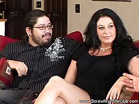 Brunette wife gets some new cock