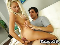 Cute girlfriend give head to her bf