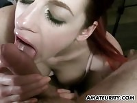 Teen Amateur Redhead Suck BF Cock And Got Facialized