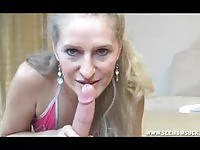 Mature MILF Sucking Young Cock