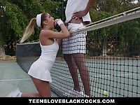 She gets it from her tennis couch