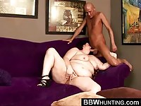 BBW Sucking Cock While Plays With Her Pussy