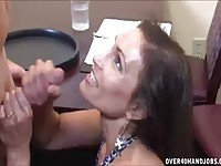 Mature MILF Enjoys Playing With Young Strong Cock