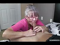 Mature Mom Sucking A Young And Hard Dick