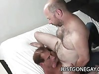 Horny Gay Granpas Fucking In The Ass