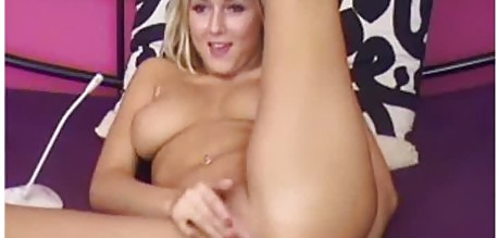Horny Blonde Masturbating While Fucking Her Ass With Her Toy