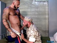 Strong gay soldiers in wild fuck