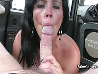 Slutty mature gets ass fucked on the backseat