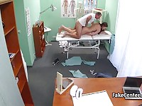 Sexy brunette student fucked by the gynecologist