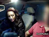 Amateur having hardcore sex with the driver