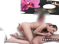 Skinny Euro amateur fucked by the fake agent