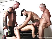 Four gay guys fucking