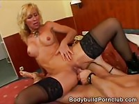 Sexy fitness MILF gets her twat filled with dick
