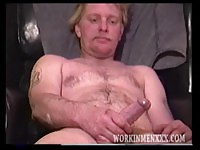 Blonde mature man jeking