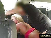 Gorgeous blonde amateur fucked by the cab driver