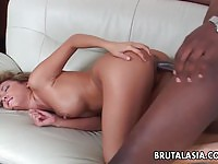 Curvaceous Asian nymph gets her pussy and ass fucked