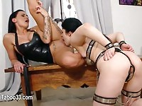Hot female domination and candle wax