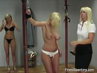 Amateur subs getting spanked and flogged by femdoms