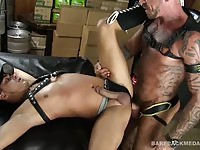 Sexy strong guys fucking in the storage