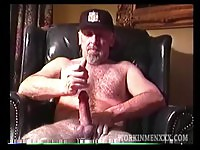 Dirty old man exposed wanking