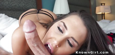 Beautiful brunette babe fucked in POV with style
