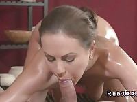 Talented babe gets fucked bigtime by her masseur