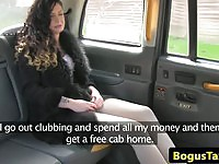 Naughty Sasha fuced in a cab