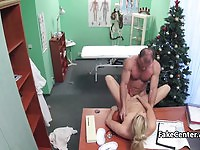 Sexy blonde mom fucked by the horny doctor